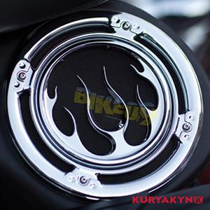 쿠리야킨 할리 튜닝 부품 투어링 (96-13) Flame Speaker Grills, Chrome 이너 페어링 3788