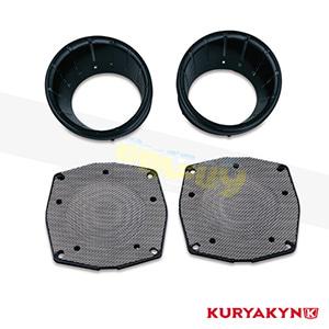 쿠리야킨 할리 튜닝 부품 투어링 (96-13) L.E.D Speaker Bezels, Gloss Black 이너 페어링 7286