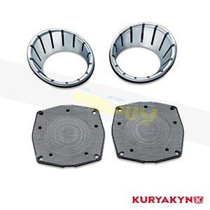 쿠리야킨 할리 튜닝 부품 투어링 (96-13) L.E.D Speaker Bezels, Chrome 이너 페어링 7287