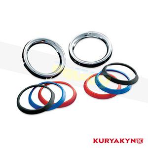 쿠리야킨 할리 튜닝 부품 투어링 (00-13) Large Deluxe Gauge Bezels with Colored Accents, Chrome 이너 페어링 3781