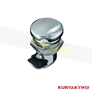 쿠리야킨 할리 튜닝 부품 투어링 (92-19) Push Button Fuel Door Latch, Chrome 탱크 악세사리 1467