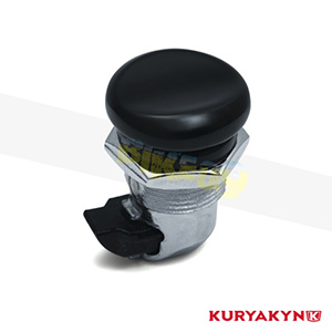 쿠리야킨 할리 튜닝 부품 투어링 (92-19) Push Button Fuel Door Latch, Gloss Black 탱크 악세사리 7428