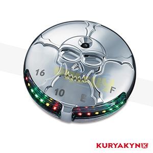 쿠리야킨 할리 튜닝 부품 소프테일 (00-17) Zombie™ L.E.D. Fuel & Battery Gauge, Chrome 탱크 악세사리 7357