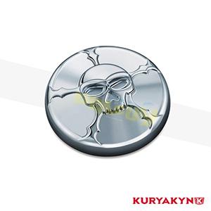 쿠리야킨 할리 튜닝 부품 할리범용 (82-19) Zombie™ Gas Cap, Chrome 탱크 악세사리 7358