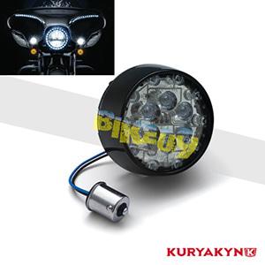 쿠리야킨 할리 튜닝 부품 다이나 (01-17) ECE Bullet Style Amber L.E.D. Turn Signal Inserts, Smoke Lens, Black LED 테일라이트 깜빡이 5475