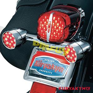 쿠리야킨 할리 튜닝 부품 소프테일 (89-19) Deluxe L.E.D. Taillight Conversion, Red with License Plate Window LED 테일라이트 깜빡이 5432