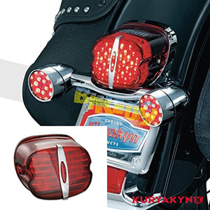 쿠리야킨 할리 튜닝 부품 스포스터 (89-19) Deluxe L.E.D. Taillight Conversion, Red with License Plate Window LED 테일라이트 깜빡이 5432