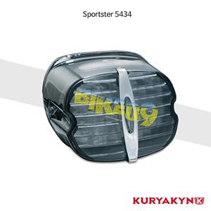 쿠리야킨 할리 튜닝 부품 스포스터 (89-19) Deluxe L.E.D. Taillight Conversion, Smoke with License Plate Window LED 테일라이트 깜빡이 5434