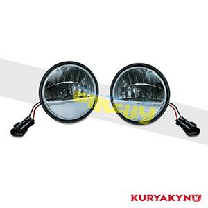 쿠리야킨 할리 튜닝 부품 할리범용 Phase 7 L.E.D. Passing Lamps, Black 헤드라이트 안개등 2247