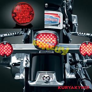 쿠리야킨 할리 튜닝 부품 소프테일 (94-17) L.E.D. Rear Turn Signal Inserts, Flat Style with Red Lenses, Red LED 테일라이트 깜빡이 5444