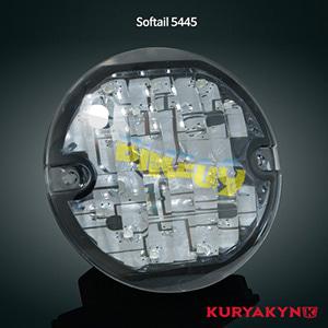 쿠리야킨 할리 튜닝 부품 소프테일 (94-17) L.E.D. Rear Turn Signal Inserts, Flat Style with Smoke Lenses, Smoke LED 테일라이트 깜빡이 5445