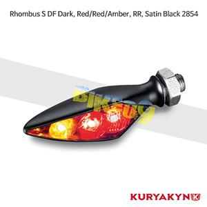 쿠리야킨 할리 튜닝 부품 할리범용 Rhombus S DF Dark, Red/Red/Amber, RR, Satin Black 커스텀 깜빡이 2854