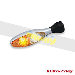 쿠리야킨 할리 튜닝 부품 할리범용 micro 1000 PL, White/Amber, Chrome 커스텀 깜빡이 2530
