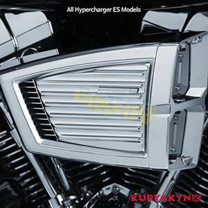 쿠리야킨 할리 튜닝 부품 할리범용 Classic Faceplate for Hypercharger™ ES, Chrome 에어크리너 9362