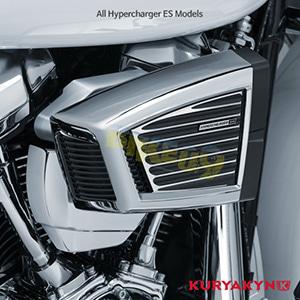 쿠리야킨 할리 튜닝 부품 할리범용 Classic Faceplate for Hypercharger™ ES, Satin Black & Machined 에어크리너 9369