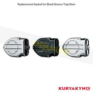 쿠리야킨 할리 튜닝 부품 할리범용 Replacement Blood Groove Trap Door Gasket, Black 에어크리너 9591