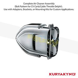 쿠리야킨 할리 튜닝 부품 할리범용 Pro-R Hypercharger™, Chrome 에어크리너 9324