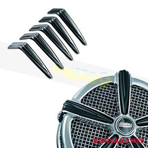 쿠리야킨 할리 튜닝 부품 할리범용 Spikes for Mach 2™, Gloss Black 에어크리너 9556