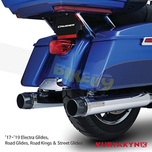 쿠리야킨 할리 튜닝 부품 투어링 (17-19) Crusher® Maverick Touring Mufflers for Milwaukee-Eight®, Chrome 머플러 635