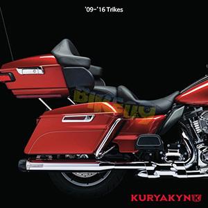 쿠리야킨 할리 튜닝 부품 Trikie (09-16) Dual Exhaust with Power Cell, Chrome 머플러 558