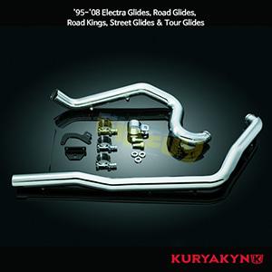 쿠리야킨 할리 튜닝 부품 투어링 (95-08) Crusher® True Dual Headers, Chrome 머플러 513