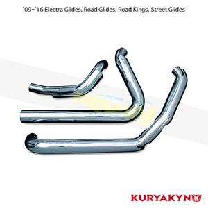 쿠리야킨 할리 튜닝 부품 투어링 (09-16) Crusher® True Dual Headers, Chrome 머플러 516