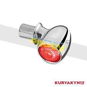 쿠리야킨 할리 튜닝 부품 할리범용 Atto RB, Red/Red, Chrome 커스텀 깜빡이 2522