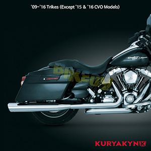 쿠리야킨 할리 튜닝 부품 Trikie (09-16) Crusher® True Dual Headers, Chrome 머플러 516