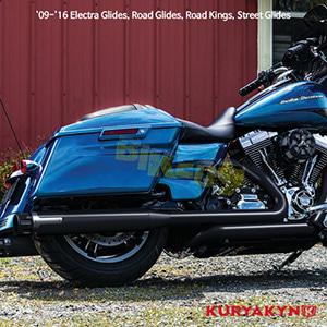 쿠리야킨 할리 튜닝 부품 투어링 (09-16) Crusher® True Dual Headers, Black, Matte Black 머플러 543