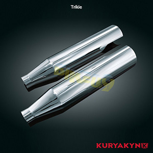 쿠리야킨 할리 튜닝 부품 Trikie Heat Shields for Crusher® Mufflers, Chrome 머플러 495