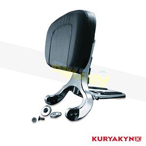 쿠리야킨 할리 튜닝 부품 할리범용 Multi-Purpose Driver & Passenger Backrest, Chrome 시트 브라켓 1660