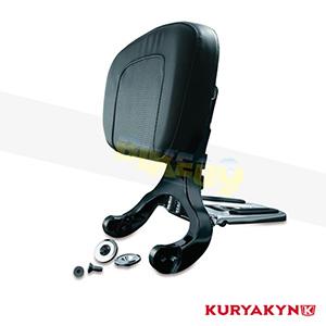 쿠리야킨 할리 튜닝 부품 할리범용 Multi-Purpose Driver & Passenger Backrest, Black & Chrome 시트 브라켓 1661