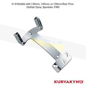 쿠리야킨 할리 튜닝 부품 할리범용 Plug & Play Mount for H-D Models, Chrome 시트 브라켓 8998