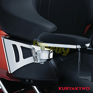 쿠리야킨 할리 튜닝 부품 할리범용 Cup Holder Kit for 8953 & 8955 Kuryakyn Passenger Armrests, Black 팔걸이 8954