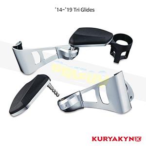 쿠리야킨 할리 튜닝 부품 Trikie (14-19) Passenger Armrests, Chrome 팔걸이 8955