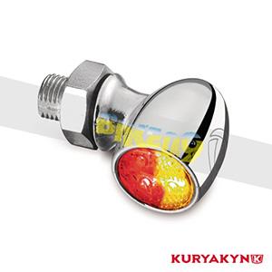 쿠리야킨 할리 튜닝 부품 할리범용 Atto DF, Red/Red/Amber, Chrome 커스텀 깜빡이 2857