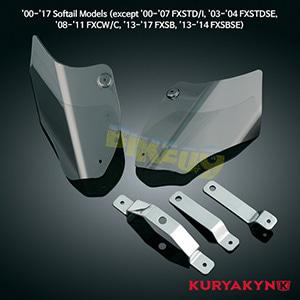 쿠리야킨 할리 튜닝 부품 소프테일 (00-17) Saddle Shields, Reflective Smoke 에어 히팅 가드 1186