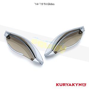 쿠리야킨 할리 튜닝 부품 Trikie (14-19) Adjustable Fairing Air Deflectors, Chrome 에어 히팅 가드 1246