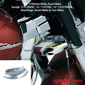 쿠리야킨 할리 튜닝 부품 투어링 (80-13) Lower Triple Tree Wind Deflector, Chrome 에어 히팅 가드 1100