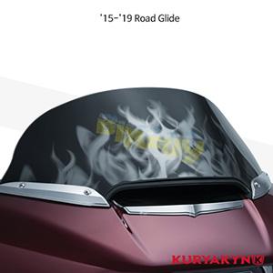 쿠리야킨 할리 튜닝 부품 투어링 (15-19) Flame™ Windshield, Smoke 윈드쉴드 1824