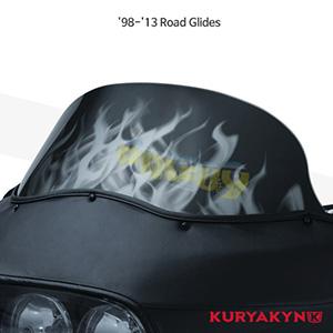 쿠리야킨 할리 튜닝 부품 투어링 (98-13) Flame™ Windshield, Smoke 윈드쉴드 1821