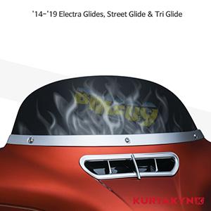 쿠리야킨 할리 튜닝 부품 투어링 (14-19) Flame™ Windshield, Smoke 윈드쉴드 1277