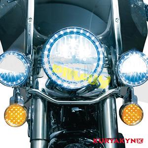 쿠리야킨 할리 튜닝 부품 다이나 Switchback (12-16) D.O.T. Compliant Phase 7 L.E.D. Headlamps 헤드라이트 안개등 2249