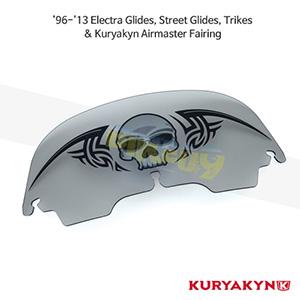 쿠리야킨 할리 튜닝 부품 투어링 (96-13) Zombie™ Windshield, Smoke 윈드쉴드 1271