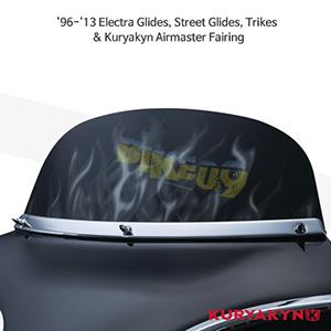 쿠리야킨 할리 튜닝 부품 투어링 (96-13) Flame™ Windshield, Smoke 윈드쉴드 1272
