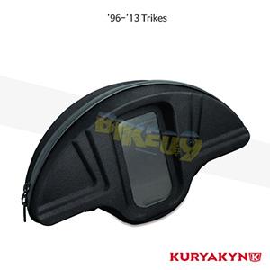 쿠리야킨 할리 튜닝 부품 Trikie (96-13) Single Pocket Windshield Bag, Black 가방 핸들백 4129