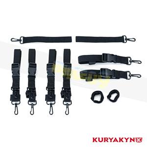 쿠리야킨 할리 튜닝 부품 할리범용 Premium Luggage Strap Kit, Black 가방 핸들백 5163