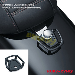 쿠리야킨 할리 튜닝 부품 할리범용 Seat Bolt Tie-Down Anchor, Gloss Black 가방 핸들백 5074