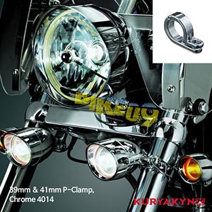 쿠리야킨 할리 튜닝 부품 할리범용 39mm & 41mm P-Clamp, Chrome 커스텀 깜빡이 4014