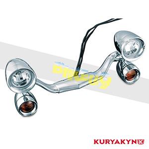 쿠리야킨 할리 튜닝 부품 할리범용 Constellation Driving Light Bar, Chrome 헤드라이트 안개등 5001